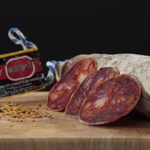 "Chorizo ibérico de bellota ""Ruesma""."