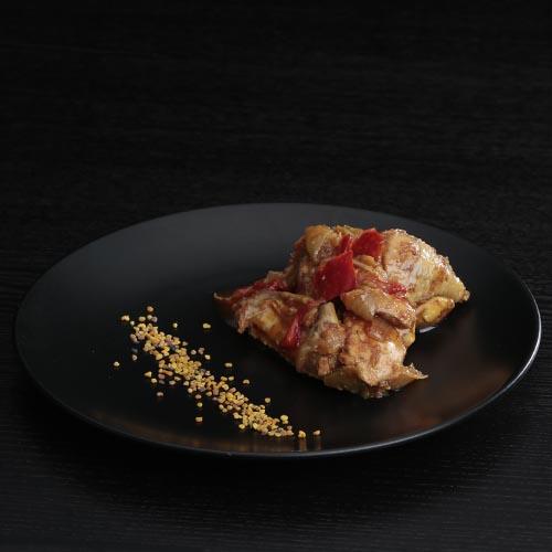 Pollo con samfaina