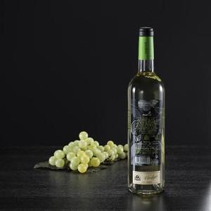 "Botella de vino blanco ""Mania"" etiqueta,D.O. Rueda"