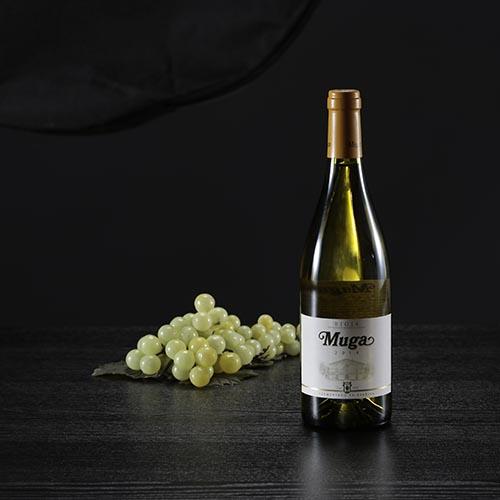 Ampolla de vi blanc Muga, D.O. Rioja