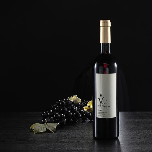 Ampolla de vi negre Val d'Alferche, D.O. Somontano
