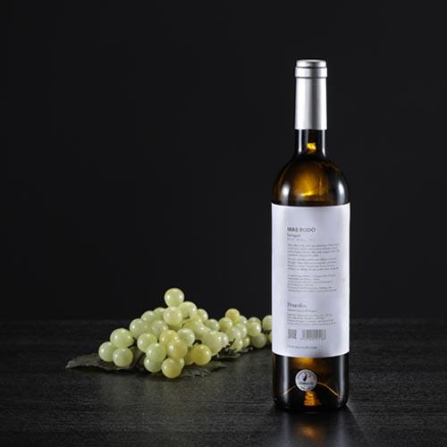 Botella de vino blanco Incògnit, D.O. Penedés