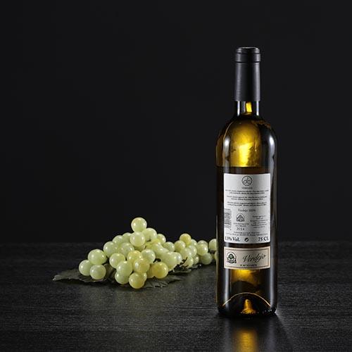 Botella de vino blanco JOC, D.O. Rueda