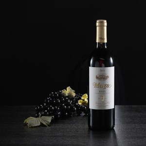 Botella de vino tinto Muga Crianza, D.O. Rioja