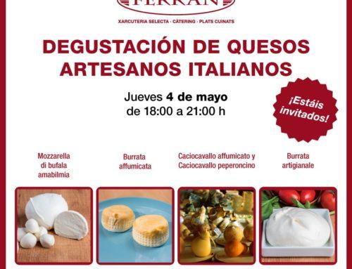 Degustación de quesos artesanos italianos