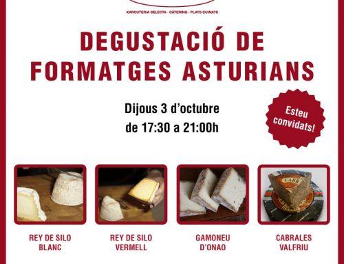 Degustació de formatges asturians a Xarcuteria Ferran