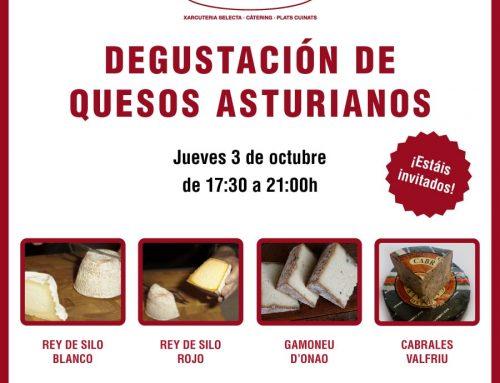 Degustación de quesos asturianos en Xarcuteria Ferran