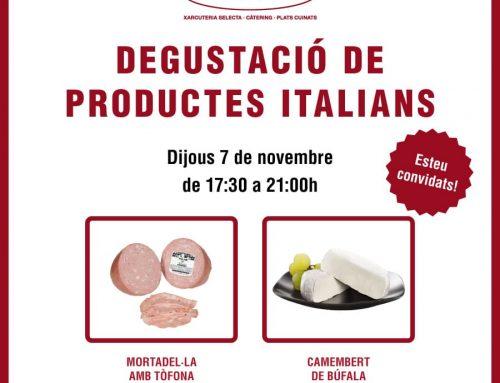 Degustació de noves delicatessen italianes