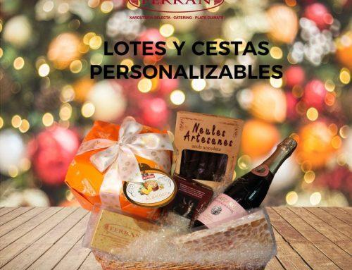 Lotes y cestas personalizados para estas Navidades